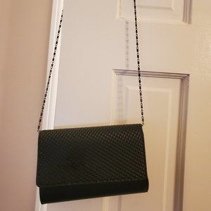 Nieman Marcus Black Studded Crossbody Chain Strap